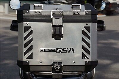 Motorcycle Top Case Reflective Decal Kit for BMW R1200 GSA GS Touratech Top Box