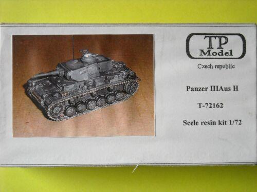 "TP Model Resinbausatz /"" Panzer III Aus H /"" r 1//72 T-72162"
