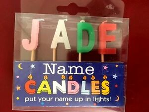 Image Is Loading Alphabet Letter J Name Birthday Candles Personalized Put