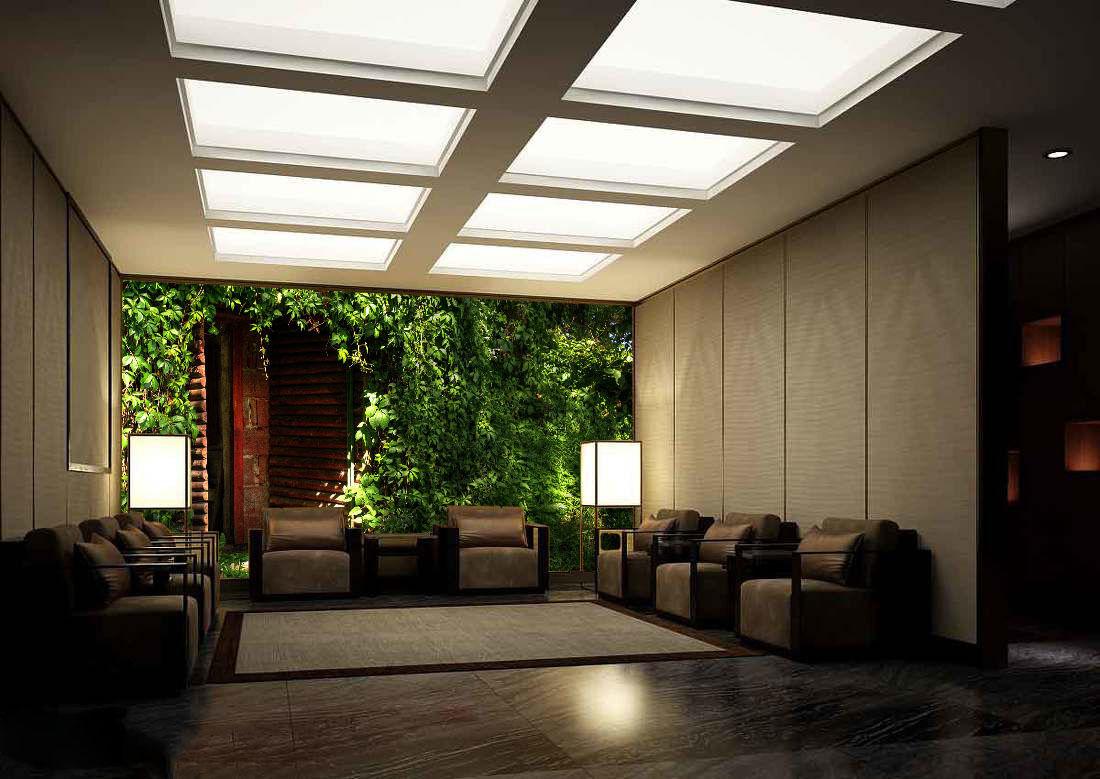 3D Plantes Grünes 6 Photo Papier Peint en Autocollant Murale Plafond Chambre Art