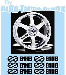 Enkei Wheel Rim Decal Sticker Set X6 Detailing Jdm Drift Wheel