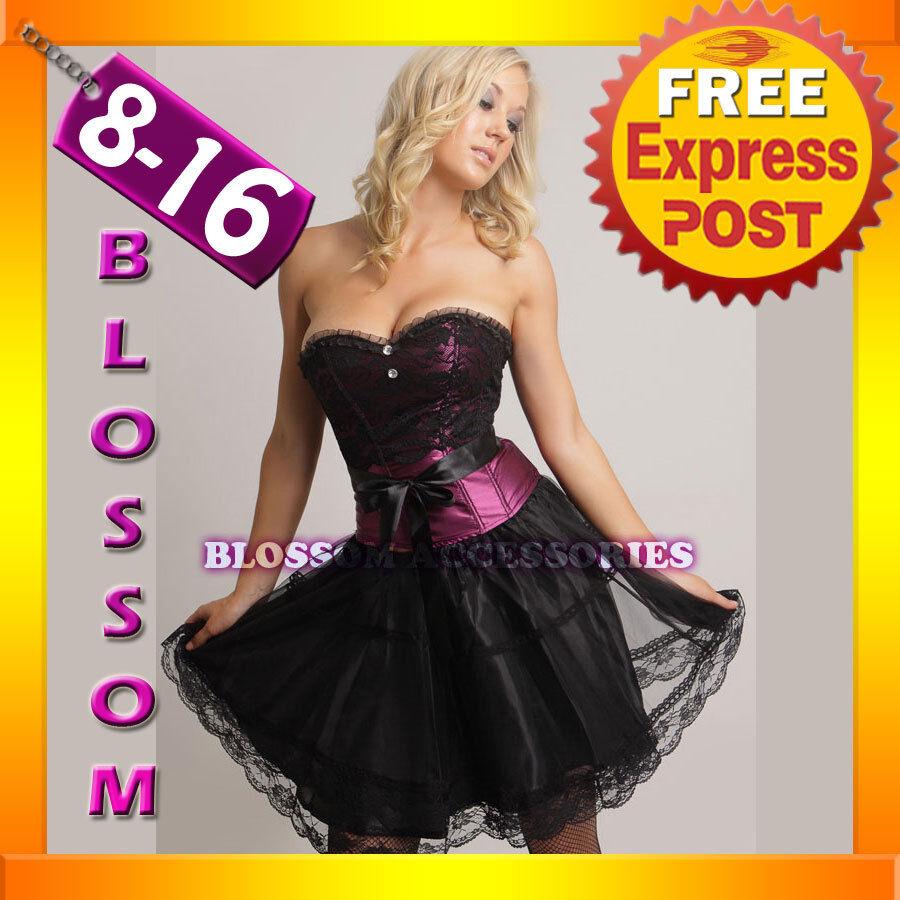 1692 Burlesque Corset Costume 8 10 12 1416