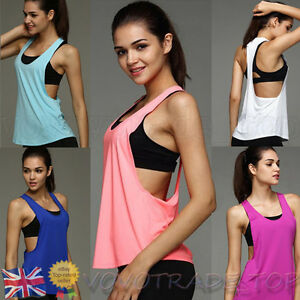 49f853874dc3de Sexy Women Tank Tops Ladies Summer Loose Vest Crop Tops Gym Sport ...