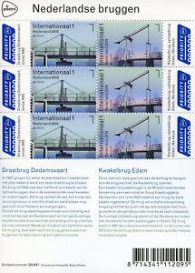 Netherlands-2018-MNH-Bridges-Europa-Kwakelbrug-Edam-6v-M-S-Architecture-Stamps