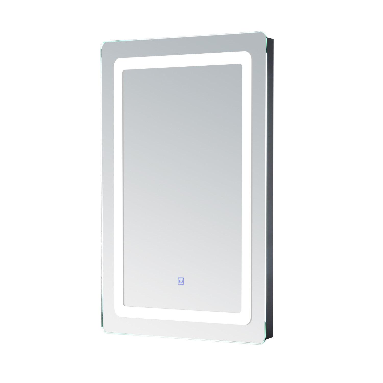 HOMCOM  Miroir de salle de bain 50x70cm avec éclairage LED 9W