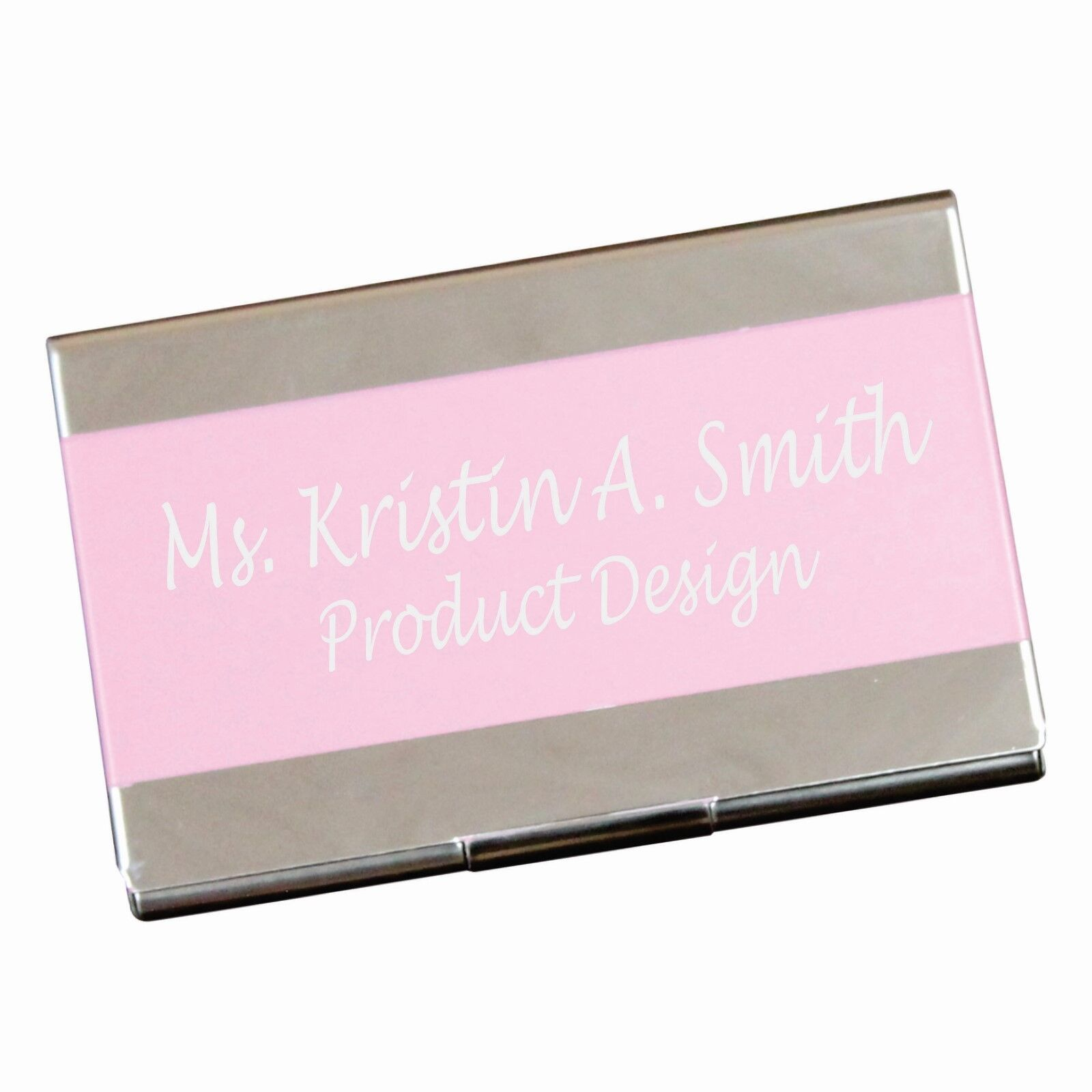 Personalized pink business card case holder custom engraved office personalized pink business card case holder custom engraved office gift colourmoves
