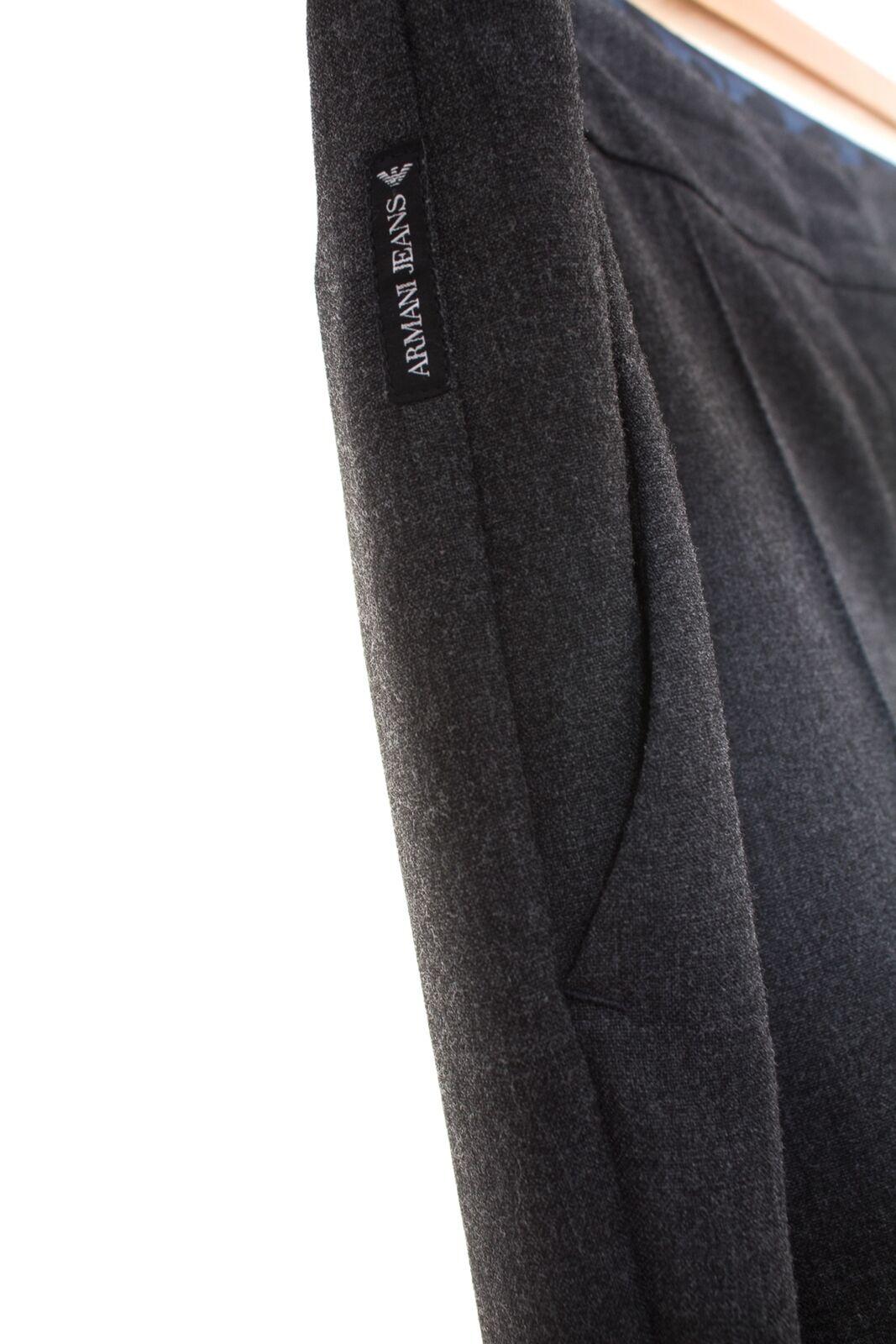 ARMANI ARMANI ARMANI JEANS Pantaloni Tg IT 48 de 42 Donna Tessuto Business Pantaloni Trousers Pants GRIGIO fab384