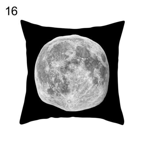 Eg /_ Sonne Mond Planet Druck Kissenbezug Bett Taille Stütze Kissen Deckel