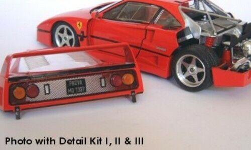 Tremonia metal photoetch transkit III for Ferrari f40 by Bburago 1//18