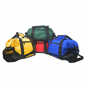 14-034-Two-Tone-Duffle-Duffel-Bag-Bags-Travel-Sport-Gym-Carry-On-Clothes-Luggage