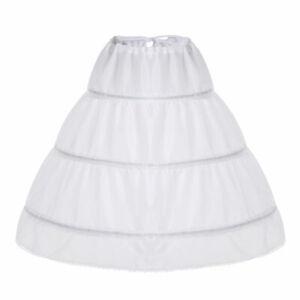 Drei-Kreis-Hoop-Kinder-Reifrock-Blumenmaedchen-Kleid-Hochzeit-Zubehoer-Petticoat