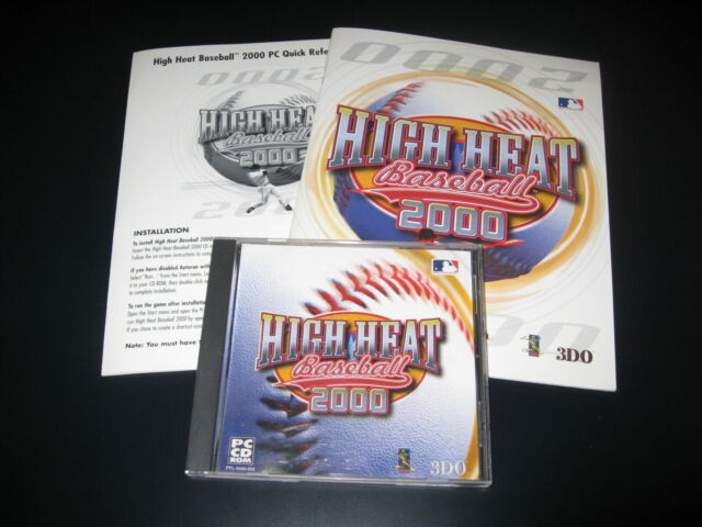 High Heat Baseball 2000 (PC, 1999) - Complete, Excellent Condition