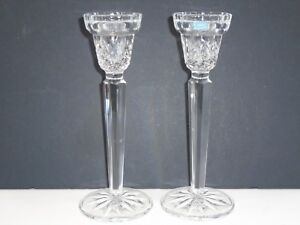 VINTAGE-J-G-DURAND-FRANCE-CRYSTAL-AU-PLOMB-CANDLE-CANDLESTICK-HOLDERS-X-2-8-5-039-039