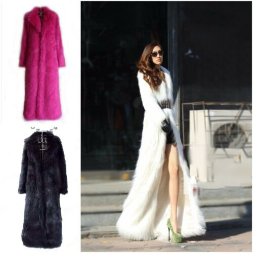 Women For Damejakke V Faux Windbreaker vinter Coats Collar Fur Varm Long vWxnRzUBz