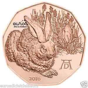 Piece-5-euros-commemorative-AUTRICHE-2016-Jeune-Lievre-de-Durer-UNC