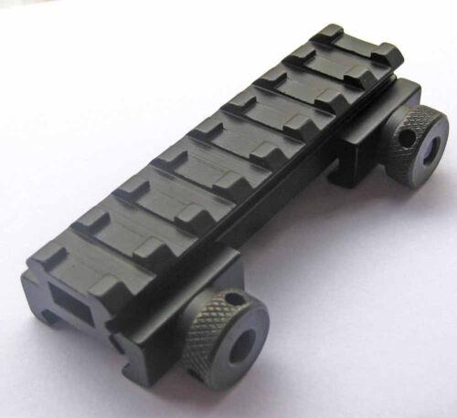 "For .223 Flat-Top 1//2/"" 0.5 Inch Riser Picatinny Rail 8 Slot QR Rifle Scope Mount"