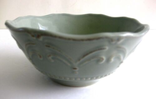 """EUC CHRIS MADDEN """"ADALINA GREEN"""" BY JC PENNEY SOUP// CEREAL BOWL 6 ¾ INCHES"""