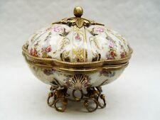 Porzellan Bronze Dose Vase  Box Deckelvase H:19,5 cm