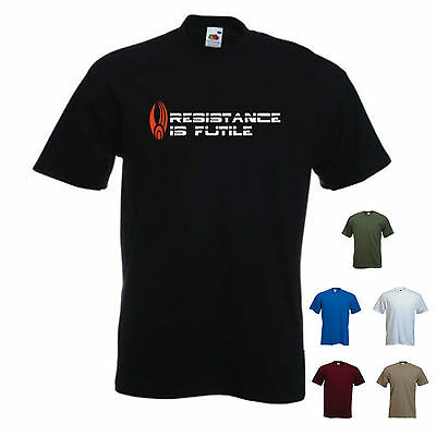 'resistance Is Futile' - Borg / Star Trek Movie / Picard / ~ Mens Funny T-shirt. Moderne Techniken