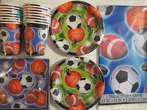 ACTION-SPORTS-Football-Hockey-Soccer-Baseball-amp-Basketball-Party-Supply-Kit