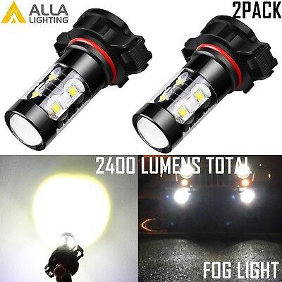 Alla Lighting 2x 2000lm 6000K White 3030 SMD H11 H8 LED Fog Driving Lights Bulbs