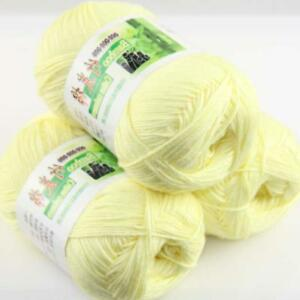 AIP-Sale-3Skeins-x50g-Soft-Bamboo-Cotton-Baby-Wrap-Hand-Knitting-Crochet-Yarn-17