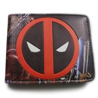 Marvel Comics Deadpool Logo  Bifold Leather Wallet Gift