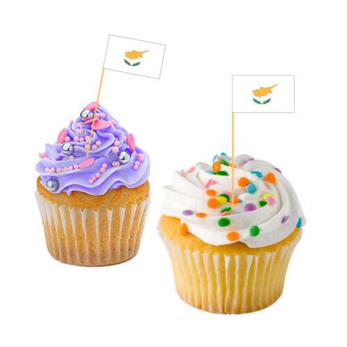 Chypre Cupcake drapeau chypriote-Cupcake Drapeau//Chypre Gâteau//Cupcake Toppers