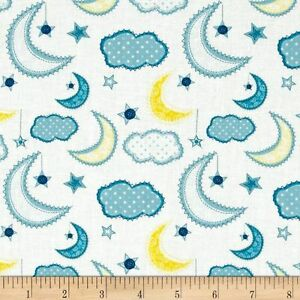 Moon-and-Stars-Dream-A-Little-Dream-Night-Fabric-Camelot-Cotton-FQ-5-Metre