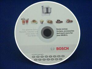 Cd Rezepte Zubehor Etc Bosch Mum4880 Kuchenmaschine Ebay