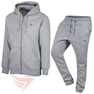 Adidas Original Classice Trefoil Trainingsanzug Fleece Grau