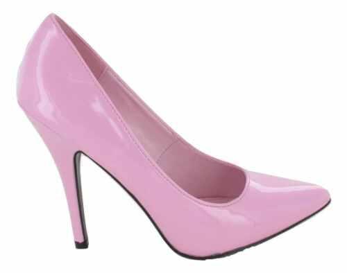 Womens Mens Drag Queen Pointy Toe High Heel Platform Court Shoe UK BIG Size 3-12