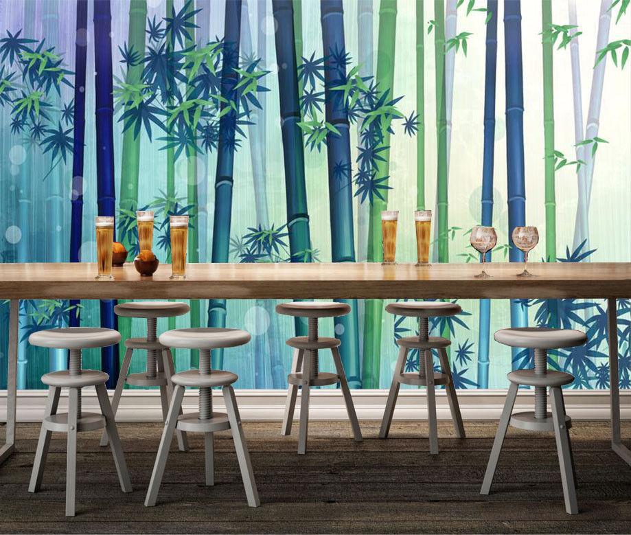 3D Fog Bamboo Forest 7 Wall Paper Murals Wall Print Wall Wallpaper Mural AU Kyra