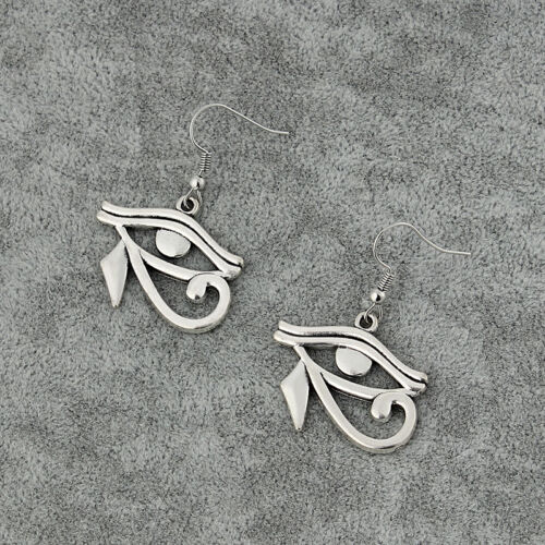1//2 Antique Silver Earring Egyptian Eye Of Horus Pendant Dangle Drop Earrings
