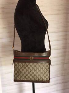 f7712401468 Image is loading Vintage-Gucci-Shoulder-Bag-Purse-GG-Monogram-Authentic