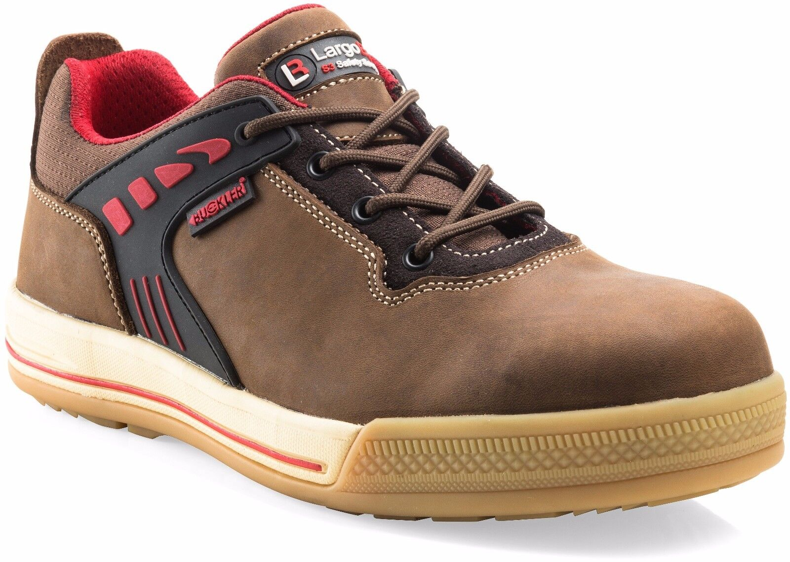 Cómodo y bien parecido Buckler Largo Bay Seguridad Trabajo Entrenador Zapatos Marrón (Tallas 6-13) Para Hombre