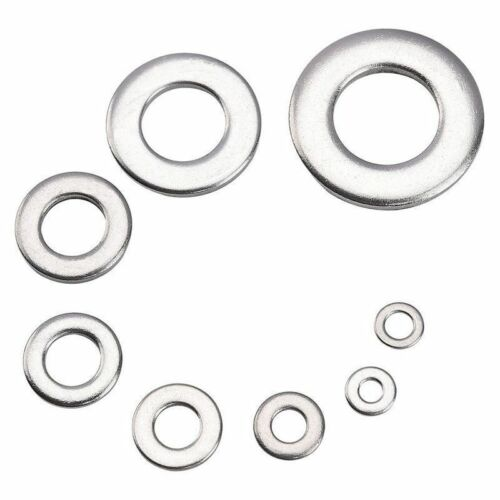 360Pcs Stainless steel Flat Washer Sealing Ring Washers Assortment Set 8 Sizes