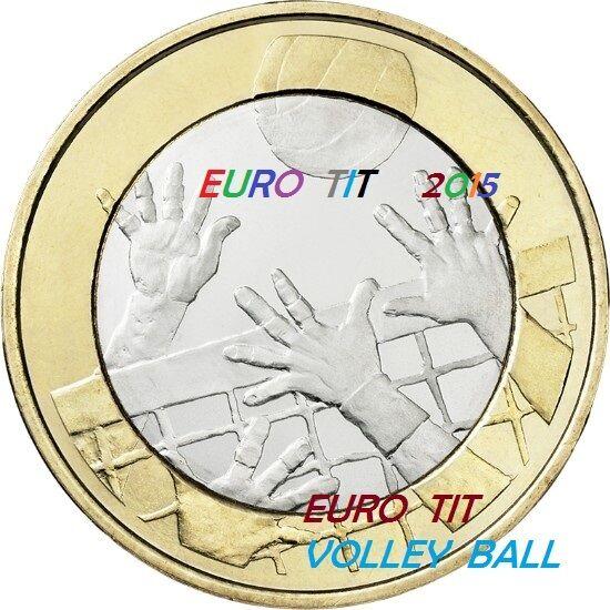 5 Euro Finlande Commemorative Nouveau 2015 Volley Ball Disponible Plus De Rabais Sur Les Surprises