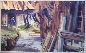 G-Elasky-034-Washday-034-Original-Watercolor-on-Paper-1987