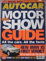 AUTOCAR 20/10/1999 featuring Jaguar XKR, BMW, Ford, Renault, Fiat