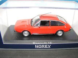 Renault 15 Tl (2nd série) 1976 En rouge avec garniture noire French Lhd Norev 1: 43rd. 3551095115041