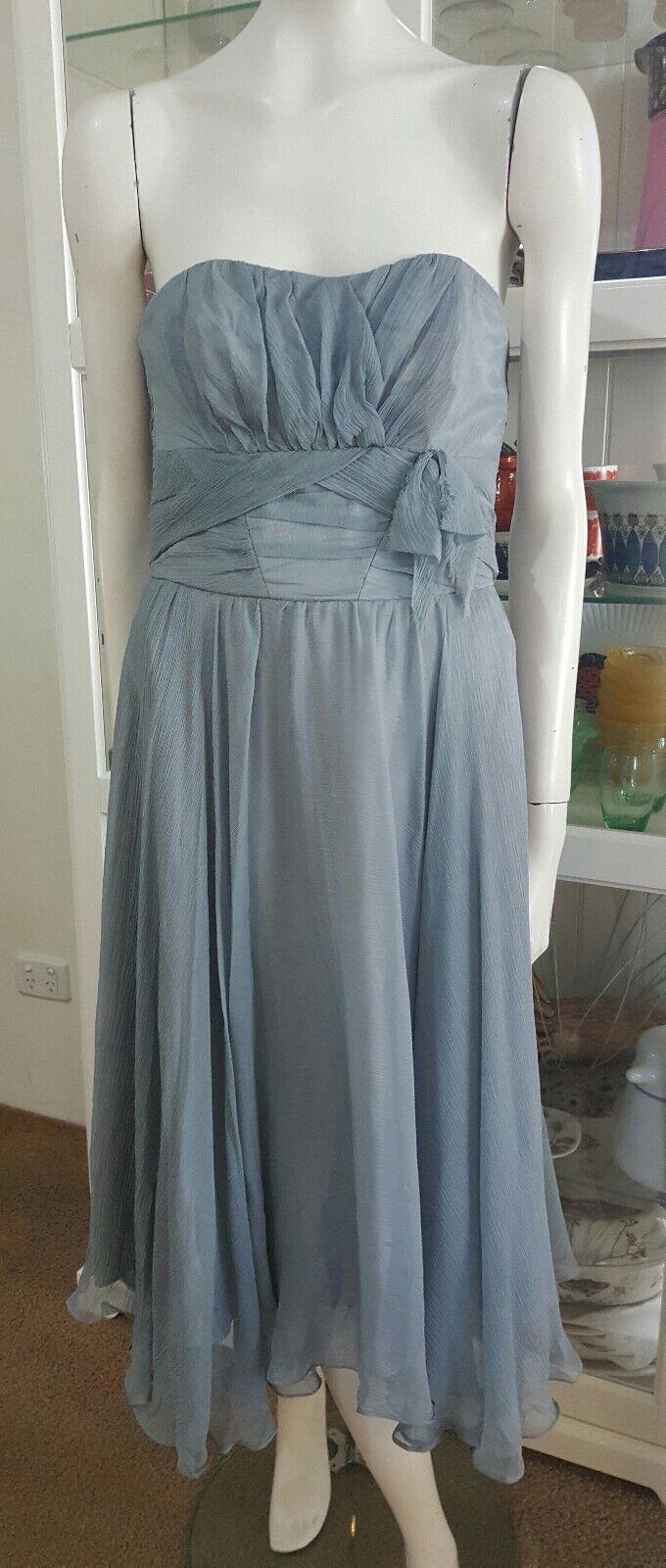 NWTS Eileen Kirby silk cocktail dress.Sz10.Aus dsgn x md.Ret