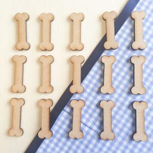 wooden mdf dog bones shape 3mm mdf craft art tags embellishments