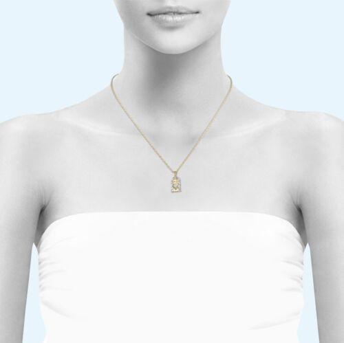 10K solid jaune or blanc Jesus HEAD Pendentif-Face Diamond Cut Collier Charme