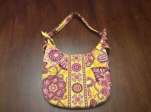 Vera Bradley Small Shoulder Bag With Short Handle Bali Gold Pattern ... ca84bf9e0750f