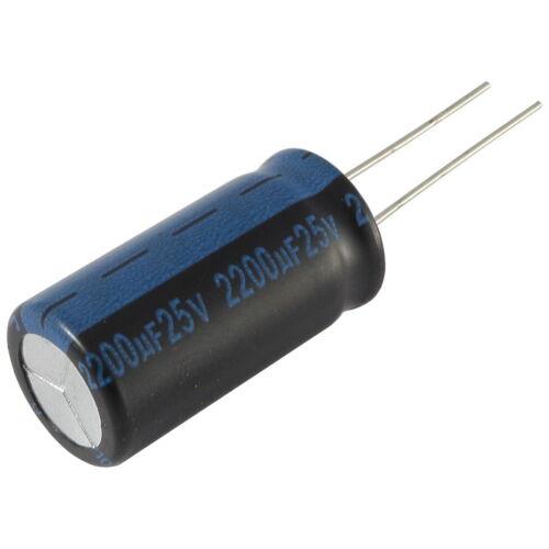 5 Elko Condensatore Radiale JAMICON TK 2200uf 25v 105 ° C 073383