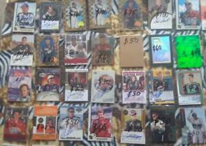 HUGE-LOT-23-Vintage-Racing-Cards-Autographs-Race-Used-Serial-039-s-RC-039-s