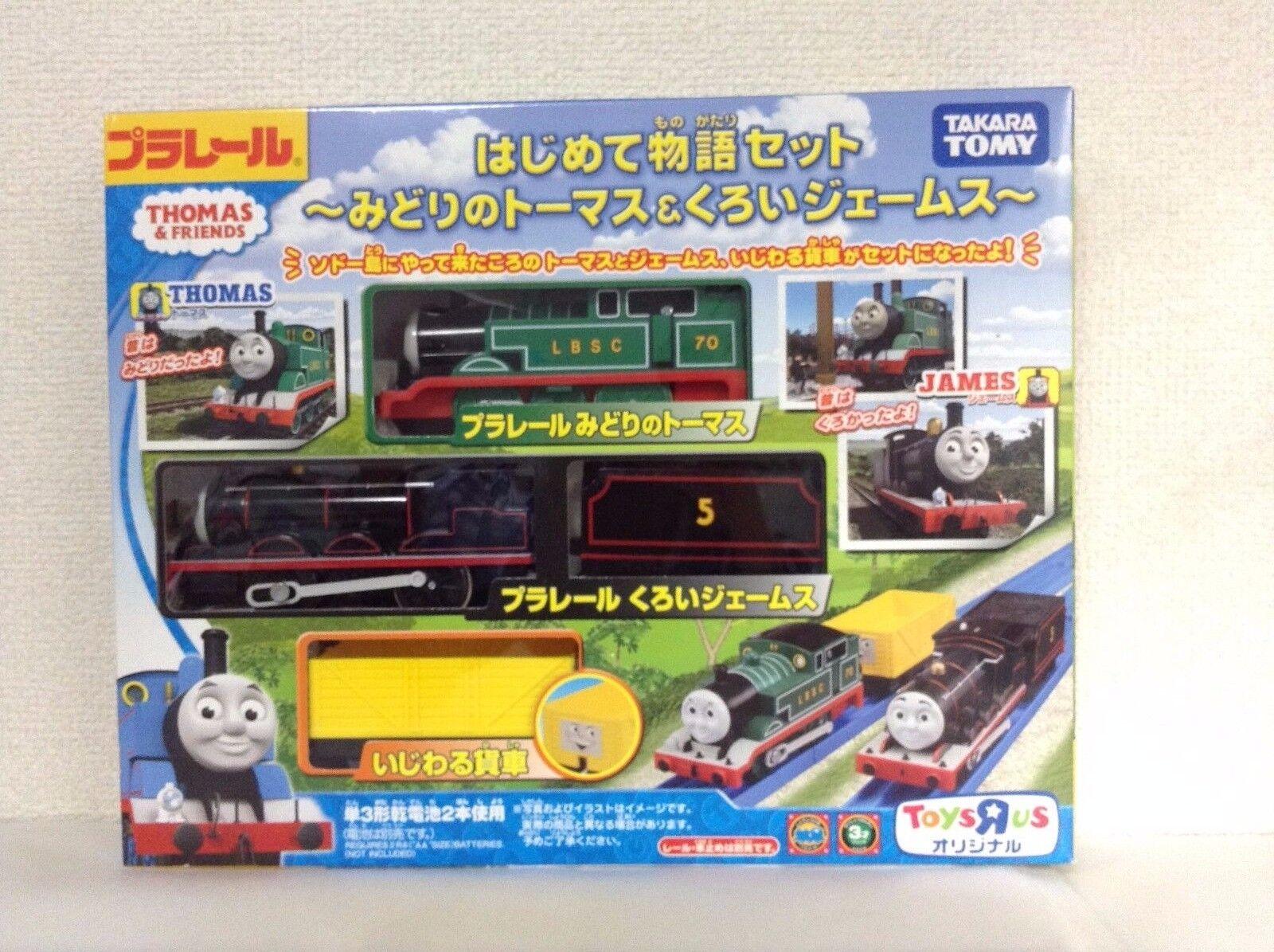 Takara Tomy Plarail Grün Thomas & Schwarz James der Erste Story Set Neu Japan F  | Sonderkauf