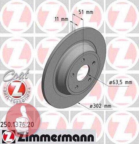 Zimmermann Coat Z Bremsscheiben 302mm voll Hinterachse