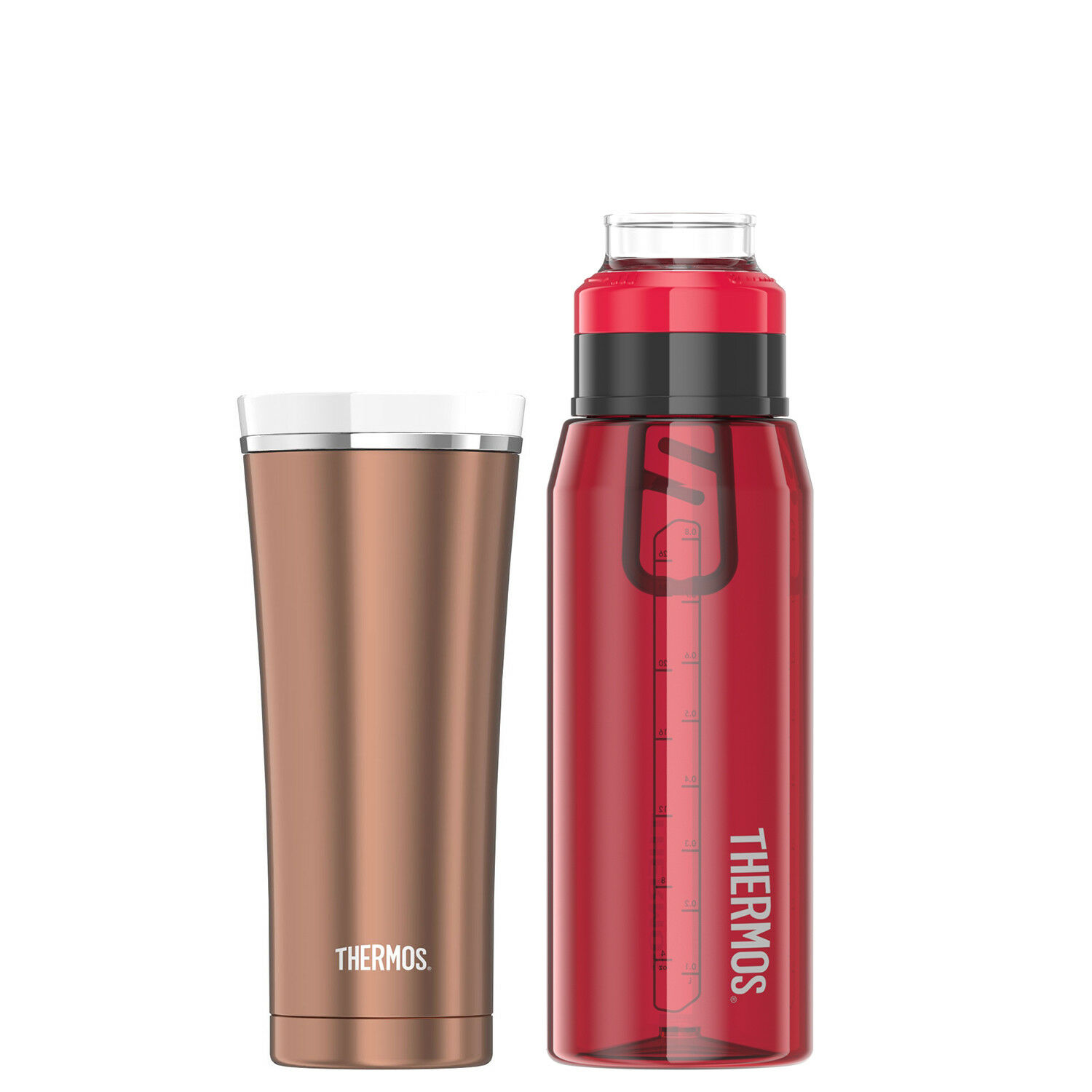 Sipp by Thermos 16oz Stainless Steel Travel Tumbler and 32oz Hydration Bottle